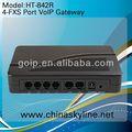 Venda quente! 4 portas fxs gateway suporte sip& h. 323 protocolo de voip adaptador de telefone, fxs( ata)