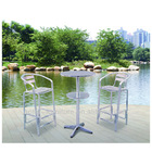 Aluminum tables and chairs used bars