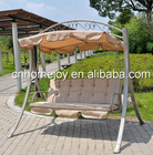 Deluxe 3 person garden swing with cushion