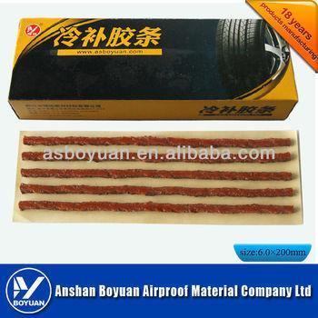 200*6.0mm tire repair seal string black