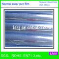 1506 100 micras película transparente de pvc precio de hoja suave