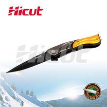 Black Coating Blade Liner Lock Folding Knife, Pocket Knife With Clip