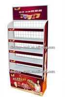 supermarket metal tea bag rack racking display standing HSX-DR0199