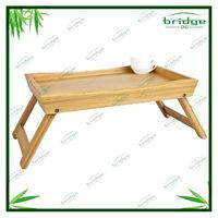 Handy bamboo folding coffee tray