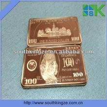 Us 100 dollar gold clad bar