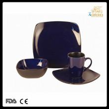 16pcs color glazed stoneware dinner set