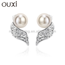 OUXI Fashionable Gold Ear Tops Designs with Pearl