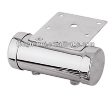 Seal both ends furniture chrome steel round tubular sofa leg A534a