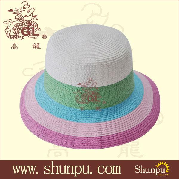 ร้อนขายสุภาพสตรีฤดูร้อนฟางแฟชั่นหมวกถังหมวกหมวกร่มขายส่ง