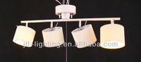fabric hanging 4 lamp ceiling light