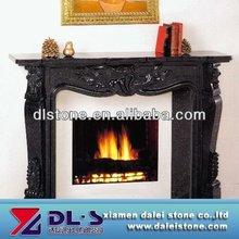 High Quality Shan'xi Black Granite Fireplace Surround