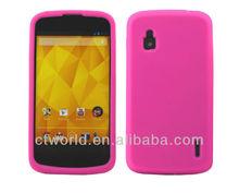 Pink Silicone Cover for LG Google Nexus 4 E960 case