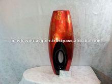 Vietnam home decoration , red lacquer vase