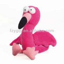 custom hot pink stuffed plush flamingo toys, zoo bird plush dolls for promotional toy