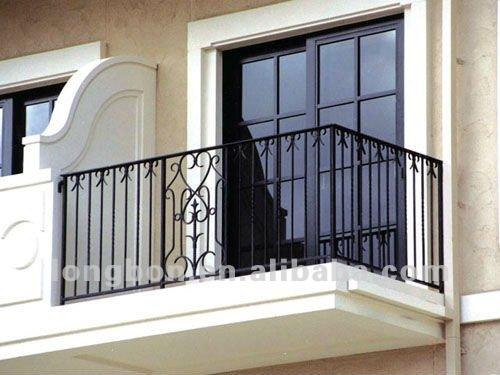 Top- vente moderne, décoratifs. tige. grille de fer pour le balcon
