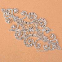 Sew On Wedding Dress Rhinestone Applique& Patch