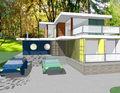 plan de maison de récipient en acier résidentielles