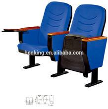 plastic and comfortable church chair WH208/interlocking church chair/cheap church chairs cover fabric