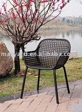Flower woven pattern Outdoor rattan chair