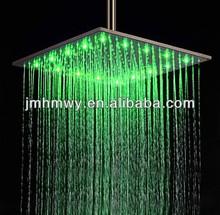 high end 16 inch ultra thin self-power ceiling rainfall showerhead with led
