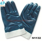 Hot!Safety equipment blue silicone rubber coated gloves
