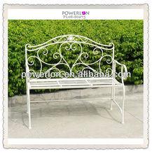 Eleagant unique antique western metal garden decorative cheap park benches
