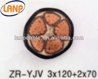 0.6/1KVpower Cable Cu/Al Conductor XLPE Insulation PVC Sheath Power Cable