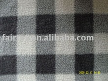 Mini Plaid Fake Sherpa knitting Fleece Fabric