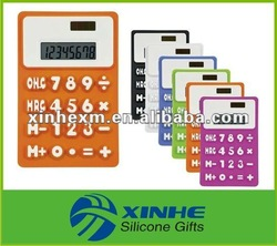 2013 New arrival foldable rubber calculator