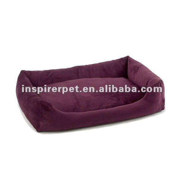 Pet Training Bumper Bed Purple Plush Dog Bed