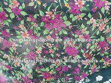 woven 70gsm 100%polyester printed chiffon fabric