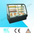 Anti- niebla de vidrio de la pantalla, compresor de alta calidad utilizado pantalla nevera para la torta