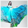 personalizado 2014 color natural de alta calidad digital impresa tela de seda