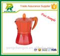 Rote kaffeemaschine/unique kaffeemaschinen/aluminium kaffeemaschine