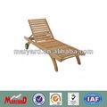 Exterior de teca tumbona de madera maciza salón cama