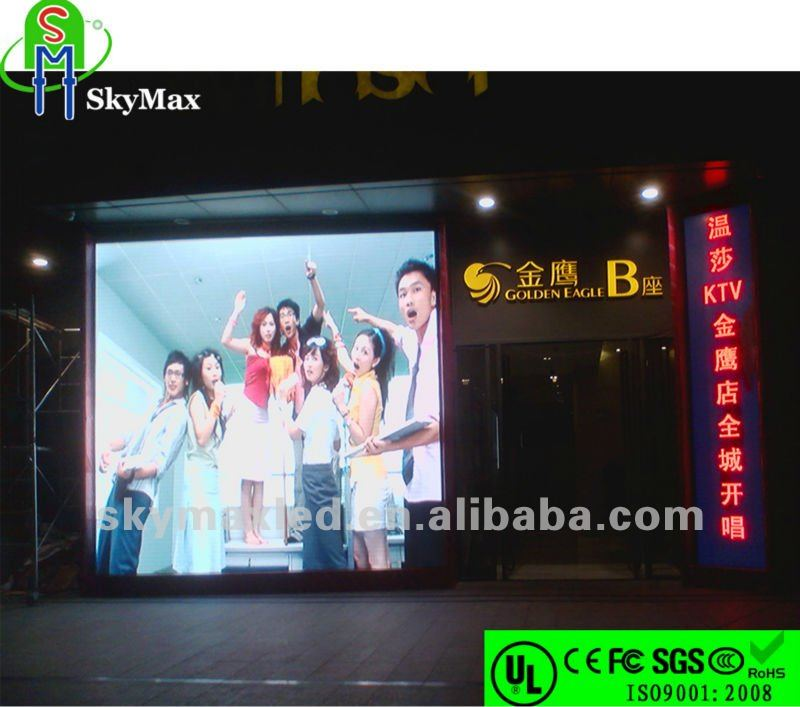 High Brightness Electronic LED Outdoor Display for KTV/Hotel project used