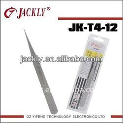 JK-T4-12,High quality stainless steel tweezer ,CE Certification.