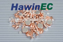 ISO9001 Silver nickel alloy electrical contact and silver nicke copper composite rivet.(agni10~20)