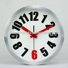 cheap round silver melting wall clock
