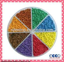 Nanjing colored sports surface epdm granules rubber price-FL-G-V-096