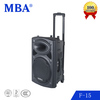 "15"" Trolley Speaker Rechargeable Portable Speaker From China Speaker Manufacturer"