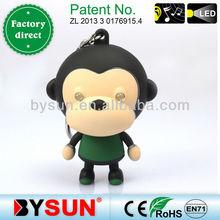 Party Favor led key ring Cartoon monkey (BS-001)