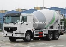new design luxurious sinotruk howo concrete mixer truck euro II 6x4 371hp