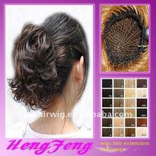 hair buns hair rings dark brown hair clip bun