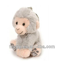 Soft monkey toys keychains, plush monkey keychain