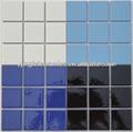 Prezzo ingrosso 48*48mm colore solido piastrelle in ceramica per la piscina