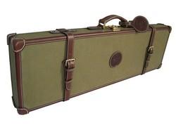 Canvas and leather hunting shotgun gun case