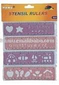 Plastic Stencil Drawing Ruler Set