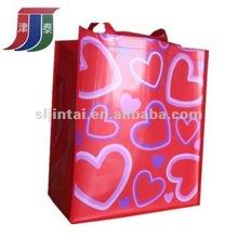 Valentine PP woven shopping bag