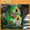 Eco-friendly FSC Hanging Wooden Bird Cage, Wooden Bird House